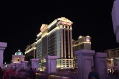 Caesar palace. In Las Vegas during a summer night Royalty Free Stock Image