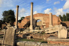 Caesar's Forum. The ruins of Caesar's Forum in Rome, Italy Royalty Free Stock Photography