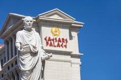 Caesar's Palace auf dem Vegas-Streifen Stockbilder