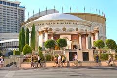 Caesar's Palace on the Vegas Strip  in Las Vegas Royalty Free Stock Photo