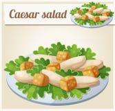 Caesar Salad Ícone detalhado do vetor ilustração stock