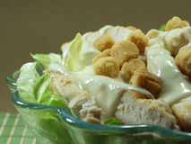 Caesar salad. A bowl of caesar salad stock photo