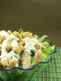 Caesar salad. On a glass bowl Royalty Free Stock Image