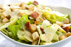 Caesar Salad. With kos lettuce, bacon, croutons, parmesan, and creamy dressing royalty free stock image