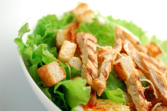 Caesar Salad. On a white plate royalty free stock photos