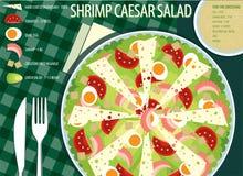 Caesar Salad ilustración del vector