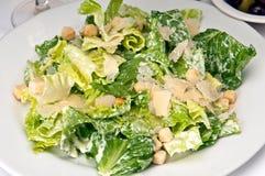 Caesar Salad. Traditional caesar salad with parmigiana crostoni royalty free stock photo