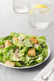Caesar Salad with Anchovies and Croutons Stock Photography
