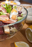 Caesar salad with bacon and eggs Stock Photography