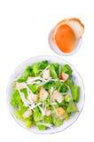 Caesar salad with bread Royalty Free Stock Photo