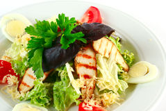 Caesar salad with chicken Stock Photography