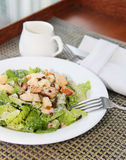 Caesar Salad with chicken and Royalty Free Stock Image