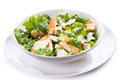 Caesar salad with chicken and greens Royalty Free Stock Photo