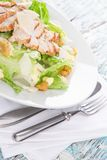 Caesar salad with chicken and greens Stock Photos