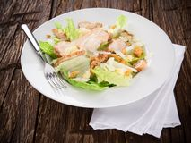 Caesar salad with chicken and greens Stock Image