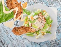 Caesar salad with chicken Royalty Free Stock Photo