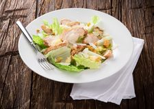 Caesar salad with chicken Stock Image