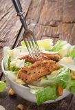 Caesar salad with chicken Royalty Free Stock Photos