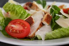 Caesar salad with chicken romain and croutons Stock Photo