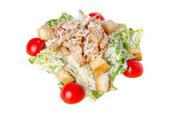 Caesar Salad with chicken. On white background Stock Image