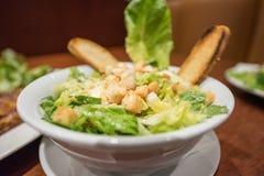 Caesar Salad. Classic Caesar Salad in bowl Stock Photos