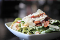 Caesar salad. In close up stock photography