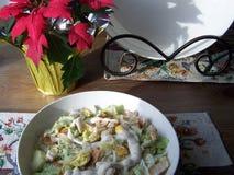 Caesar salad  close-up Stock Photo