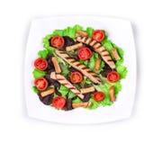Caesar salad close up. Royalty Free Stock Images