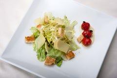 Caesar salad closeup in the restaurant Stock Photo
