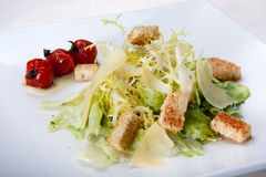 Caesar salad closeup in the restaurant Stock Photography