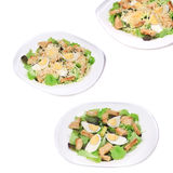 Caesar salad collage. Royalty Free Stock Images