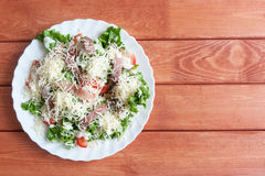 Caesar Salad com Omul Imagens de Stock Royalty Free