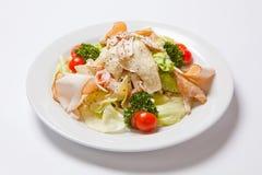 Caesar Salad con el prendedero y el queso del pollo foto de archivo