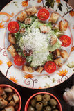 Caesar salad with croutons and cherry tomato Royalty Free Stock Image