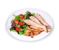 Caesar salad dish close up. Royalty Free Stock Images