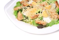 Caesar salad dish close up. Stock Photography