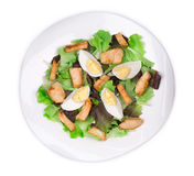 Caesar salad with eggs. Stock Images