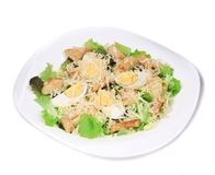 Caesar salad with eggs and parmesan. Stock Photography