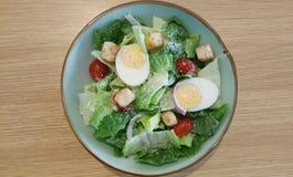 Caesar salad with eggs Stock Image