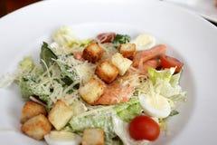 Caesar salad with fish Stock Photo