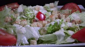 Caesar Salad stock video footage