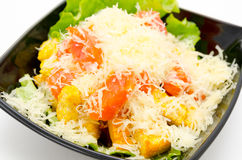 Caesar salad with grated cheese Royalty Free Stock Photos
