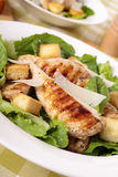 Caesar salad with griddled chicken fillet Stock Photo