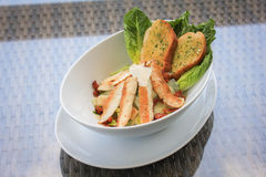 Caesar Salad with grilled chicken Royalty Free Stock Photo