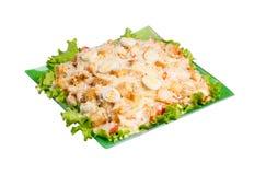 Caesar Salad isolated. Fresh caesar salad isolated on white background royalty free stock images