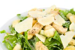 Caesar Salad Isolated on White Stock Images