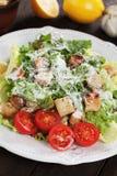 Caesar salad with lemon and cherry tomato Royalty Free Stock Photo