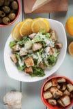 Caesar salad with lemon Stock Photo