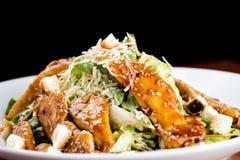 Caesar Salad met Kippenfilet Royalty-vrije Stock Afbeeldingen