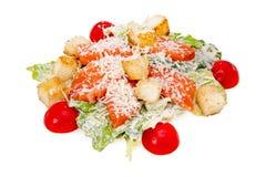 Caesar Salad mit einem Lachs Lizenzfreies Stockfoto
